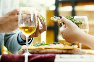 Pizza and wine at Bardstown restaurant