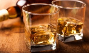Glasses with bourbon tastings at a distillery tour one of the fun Things to do in Bardstown KY
