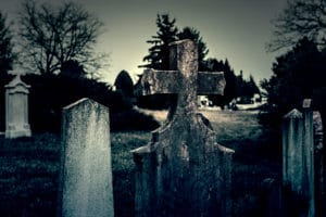 ghost tours in cemetery at night