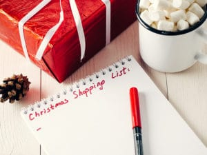Christmas gifts shopping list